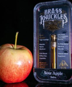 Sour apple brass knuckles cartridges online